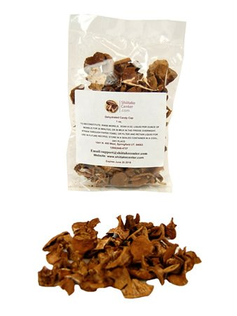 Dried Candy Cap Mushrooms - 1 Oz. Bag - Dehydrated Edible Gourmet Lactarius Rubidus Fungi (Candy Cap Mushroom)