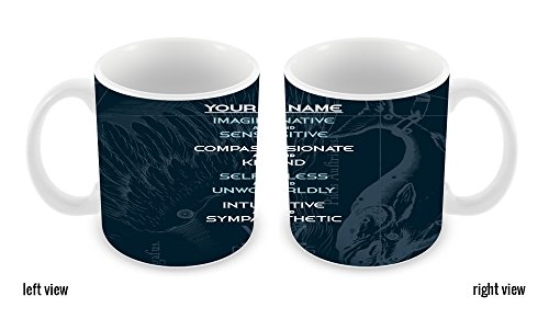 BleuReign(TM) Personalized Zodiac Sign Custom Name Pisces Feb20-Mar20 11oz Ceramic Coffee Mug