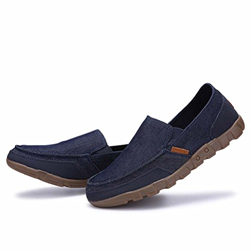 Shoes Casual Canvas Vogstyle Slip on Fashion Loafers Cloth Mens Blue ICXIwRxOqa