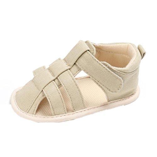 Baby Sandalen, Jungen Mädchen Mode Weiche Leinwand Kleinkinder Kinder Flip-Flops Khaki