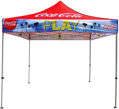 Elite Canopy 10'x10' Commercial-Grade Steel Pop-Up Canopy Trade Show Outdoor Tent w/Roller Carry Bag