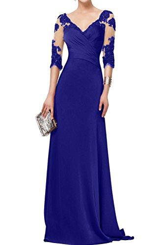 Royal Marie Langarm 4 Abendkleider Langes Festlichkleider La Braut 3 Blau mit Spitze Brautmutterkleider Promkleider pZqad7afcw