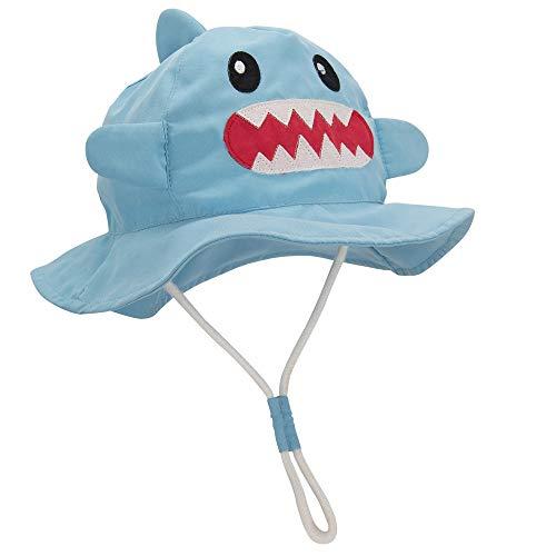 Durio Baby Sun Hats Cute Sun Hat Toddler Summer Sun Protection Hat Baby Boy Bucket Hats Cap Kids Baby Girls E Shark 19.7