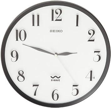 amazon seiko r wave wall clock silver metallic case 並行輸入品
