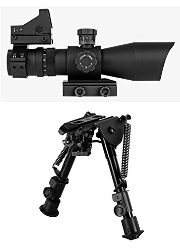 Trinity Patterns (Trinity Force Combo Kit with Tactical Rifle Scope With illuminated P4 Reticle Pattern, Integral Quick Detach Mount and Compact Height Adjustable Bipod)