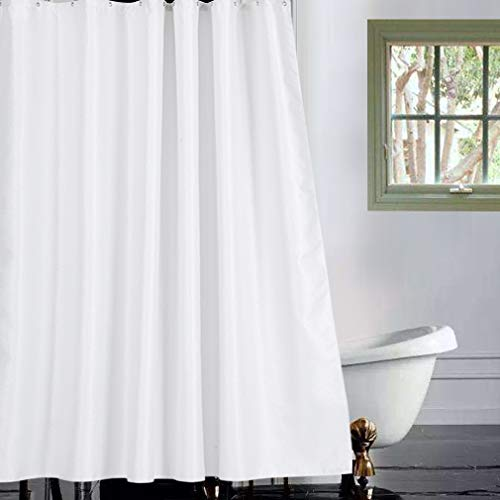 - Valea Home Waffle Weave Fabric Shower Curtain Liner Super Waterproof Hotel Quality Bathroom Curtains with Sparkle Silver Thread for Christmas Party Decoration, 70