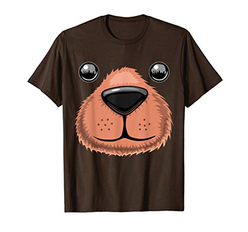 Halloween Bear Face Animal Costume Shirt Teddy Bear Costume -