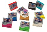 FIMO Pack de 10 pains de 57g Pâte à modeler Soft Assortis