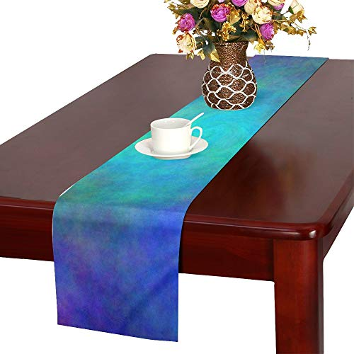 Color Abstract Hole Plasma Spiral Table Runner, Kitchen Dining Table Runner 16 X 72 Inch For Dinner Parties, Events, Decor by RYUIFI