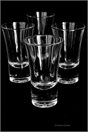 Glass Flared Shooter Shot (Set of 12 Flared 1.75oz/52ml Modern Shooter Shot Glasses)