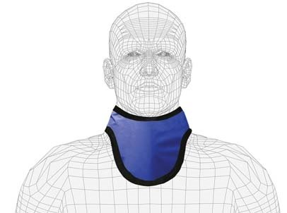 Quick Ship X-Ray Thyro-Guard Lead Protective Lead Thyroid Collar, Not Attached, 0.5mm Pb Equivalency, Velcro Closure, (Thyroid Lead Apron)