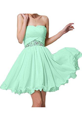 Partykleider Braut Brautjungfernkleider Jugendweihe Minze La Chiffon Hell Elegant mia Kurz Kleider Blau Gruen Mini Abendkleider PxaqF5