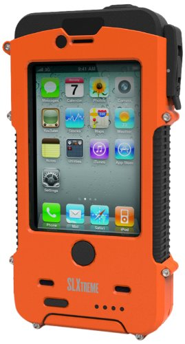 Snow Lizard SLXtreme Case for iPhone 4 and 4S, Signal Orange by Otis Technology