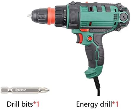 Cheniess 300W Electric Drill Electric Screwdriver and Electric Drill Multifunctional Power Tools for Furniture for Home Improvement DIY Project