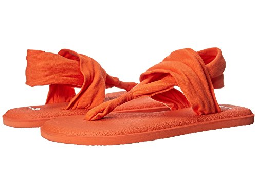 Sanuk Kvinners Yoga Slynge 2 Metallisk Flip-flop Nasturtium