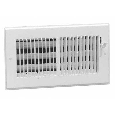 American Metal 356W10x4 10-Inch by 4-Inch White Steel Wall Diffusers with 1/3-Inch Grille Bar (Vent Wall Plumbing)