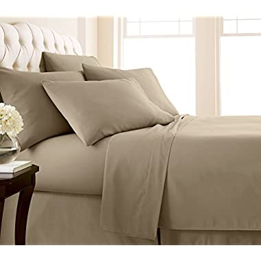 Southshore Fine Linens - 6 Piece - 21 Inch - Extra Deep Pocket Sheet Set (Queen, Taupe)