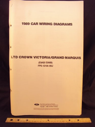 1989 FORD LTD Crown Victoria & MERCURY Grand Marquis Electrical Wiring Diagrams / (Mercury Grand Marquis Wiring Diagrams)
