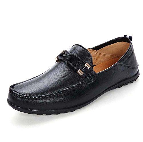 Loafer Sole Taille Hommes Sérigraphies Doux Casual Chaussures antidérapantes en Eu 47 Chaussures On Pump Chaussures Black 37 à Slip cuir pédale dqwpdv