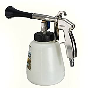 Mohoo White Tornador Car Surface Cleaning Gun Washing Air Pulse Spray Tool With Brush
