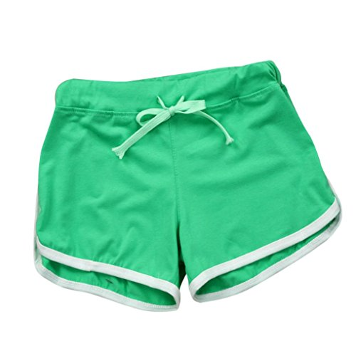 ❤️❤️Hot Sale New Fashion 2018 Clearance Among Women Shorts Summer Pants Women Sport Shorts Gym Workout Waistband Skinny Yoga Elastic Shorts (L, Green)
