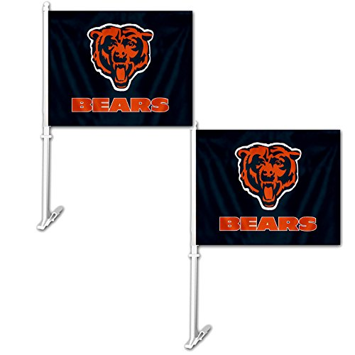 Official National Football League Fan Shop Authentic NFL 2-pack Car Window Flags. Show Team Pride with these 11.5
