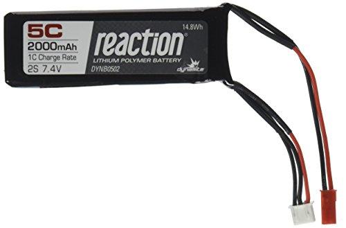 Dynamite Reaction 7.4V 2000mAh 5C 2S LiPo Receiver Pack: XXL-2, ()