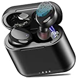 TOZO T6 True Wireless Earbuds Bluetooth Headphones Touch Control with Wireless Charging Case IPX8 Waterproof TWS Stereo Earphones in-Ear Built-in Mic Headset Premium Deep Bass for Sport Black: more info