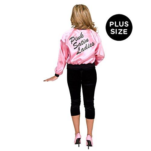 Pink Satin Ladies Plus Size Jacket (Pink Ladies Jacket Plus Size)