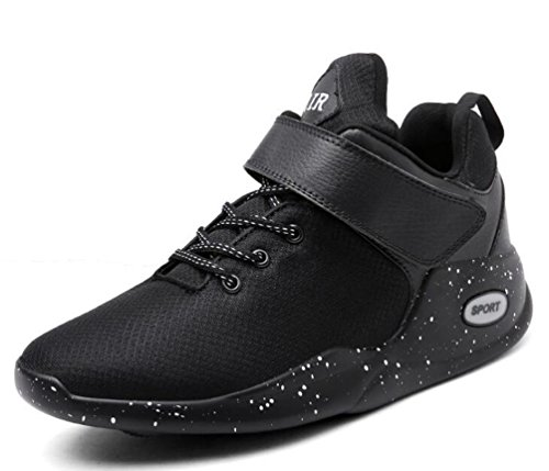Buffer Shock Training Mesh Running ligero Monk-correas de los hombres transpirable antideslizante Soft Soles zapatos de baloncesto UE tamaño 39-47 Black