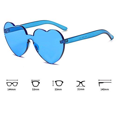 Couleur Intégré C5 UV Coeur Soleil Lunettes Sunglasse Bonbons UV400 juqilu De Coeur Shades ftqnwO7qdx