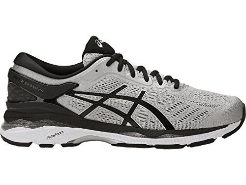ASICS Mens Gel-Kayano 24 Running Shoe, Silver/Black/Mid Grey, 11 Medium US