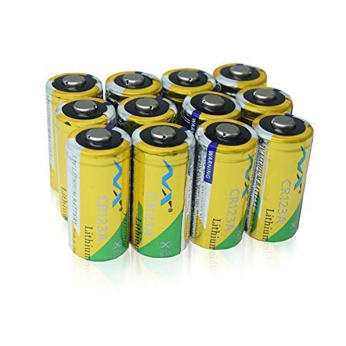 Price comparison product image CR123A Lithium Batteries, NuoXin CR123A for Arlo Cameras,  Polaroid,  Flashlight,  Laser Aiming and Ranging Instrument Microphones Non-Rechargeable 3V Lithium Battery,  12-Pack,  1500mAh Each [Can not b