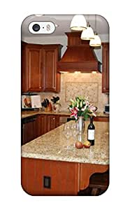 JkAWhit2830KRMmE ZippyDoritEduard Beige Kitchen Features Granite Counters Tumbled Marble Backsplash And Center Island Feeling Iphone 5/5s On Your Style Birthday Gift Cover Case