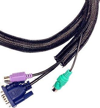 PET - Funda trenzada expandible para cables, 10 pies, 1/4 pulgadas ...
