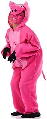 El Rey del Carnaval Disfraz de Cerdito Rosa para niño: Amazon.es ...
