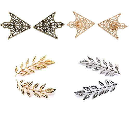 TANG SONG 4Pair Brooches Accessories Palace Retro Hollow Pattern Shirt Collar Brooch Buckle Angle Shirt Collar Decoration Parts - Retro Shirt Pin
