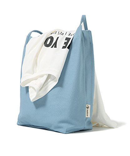 Canvas Tote Bag Handbag Shoulder Bag Purses For Men And Women (Light blue) by Jeelow (Image #1)
