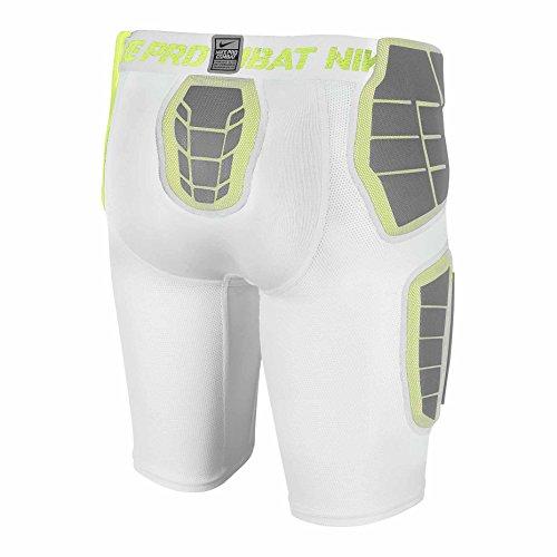 Nike Pro Hyperstrong Hardplate Taillierte Jungen Fußballshorts Weiß / Weiß / Volt / Volt