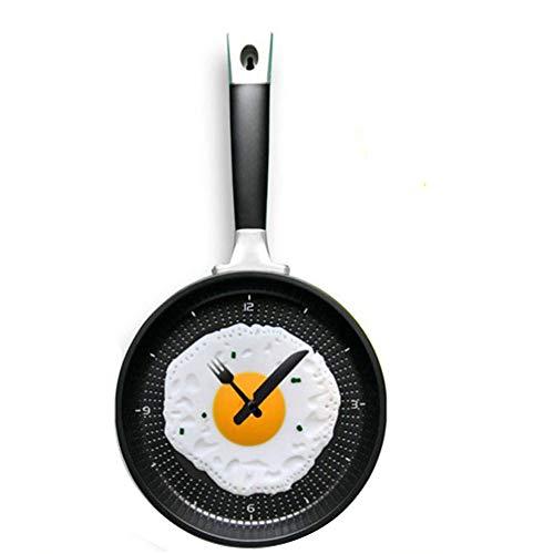 - LSM store Creative Egg Pan Wall Clock - Home Wall Decor, Living Room Bedroom Wall Clock