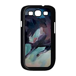 Samsung Galaxy S3 Case, Abstract Watercolor Hard Case For Samsung Galaxy S3(Black) Yearinspace058499