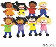 Happy Kids Hand Puppets Multi Ethnic and Diversity Collection (Set of 8)