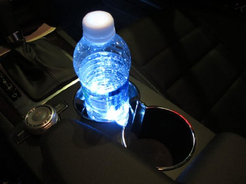 iJDMTOY 3-SMD LED Cup Holder Glove Box Xenon White Ashtray Strip Lights