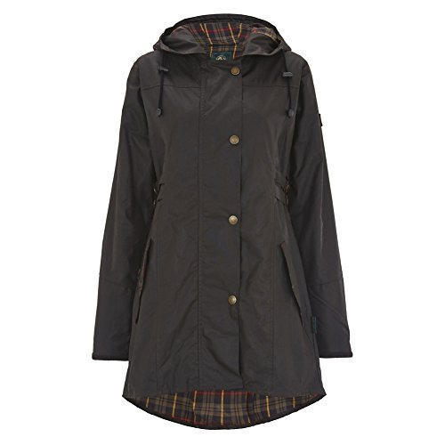 Celtic and Co Womens Wax Riding Style British Made Rain Coat - Dark Brown - Size 14 by Celtic & Co (Image #3)