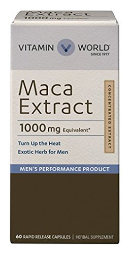 Vitamin World Maca Extract 1000mg, Exotic Herb For Men 60 capsules