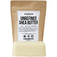 Unrefined Ivory Shea Butter - Raw, 100% Pure, from West Africa - Moisturizing for Dry, Cracked Skin and Eczema - Use on Body, Face and Hair and in DIY Skin Care Recipes - 16 oz by Better Shea Butter
