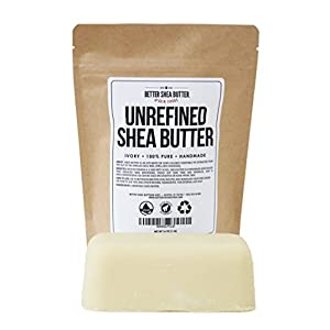 Unrefined African Shea Butter – Ivory, 100% Pure & Raw – Moisturizing and Rich Body Butter for Dry Skin – Suitable for…