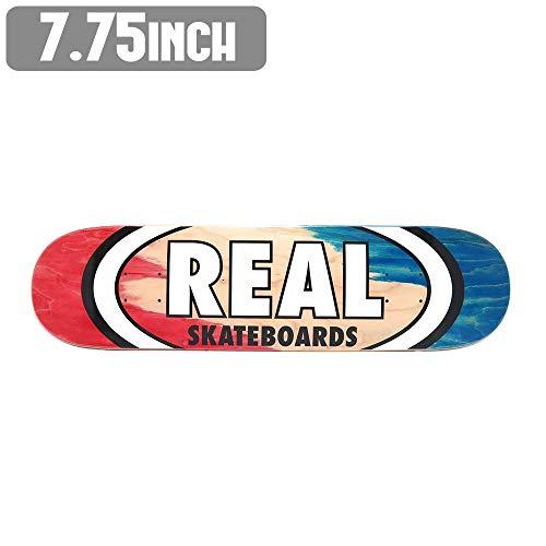 くびれた適用する革命リアル スケートボード デッキ REAL PRO ANGLE DIP OVAL 7.75 スケボー