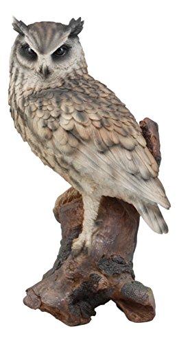 Ebros Realistic Nature Wildlife Eurasian Eagle Owl Perching