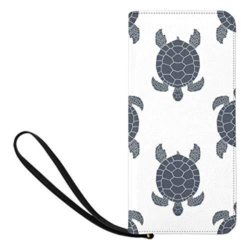 (InterestPrint Sea Turtles Zip Around Wallet for Women)